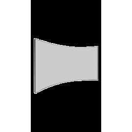 شاشة اسقاط بروجكتر 135 بوصة - ثابته منحنية - كيرف - رمادي