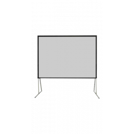 شاشة اسقاط بروجكتر 150 بوصة - متنقلة خارجية - رمادي- ألمنيوم صلب - صندوق تخزين