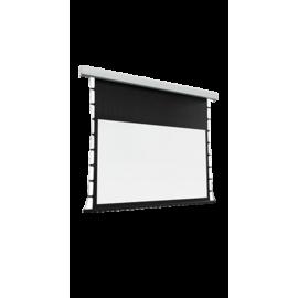 شاشة اسقاط بروجكتر 130 بوصة -تدعم 4K- متحركة- ابيض - ريموت تحكم - موتور صلب