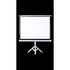شاشة اسقاط بروجكتر 100 بوصة - متنقلة داخلية - ابيض - سهل التحكم والتخزين