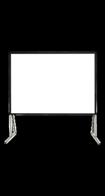 شاشة اسقاط بروجكتر 200 بوصة - متنقلة خارجية - رمادي- ألمنيوم صلب - صندوق تخزين
