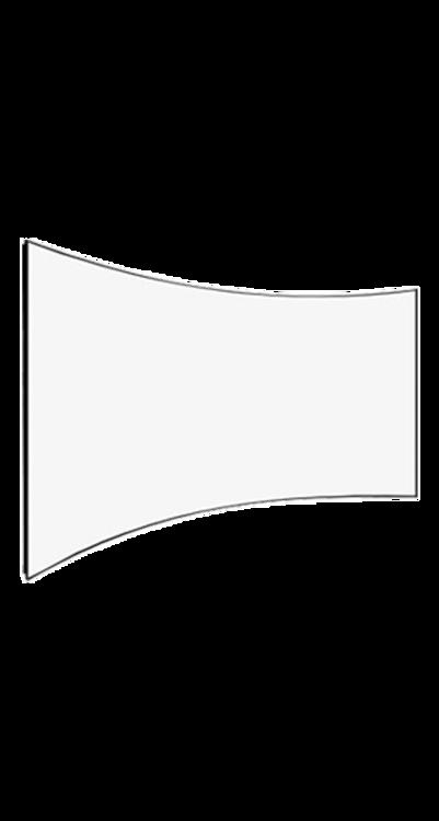شاشة اسقاط بروجكتر 135 بوصة - ثابته منحنية - كيرف - ابيض